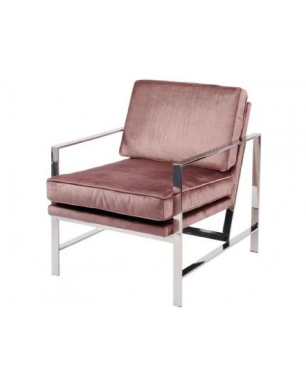 Libra Caverly Club Chair With Chrome Frame